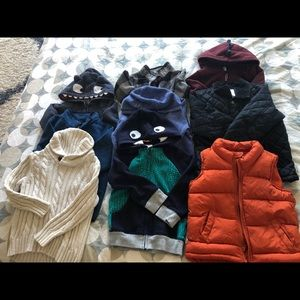 Lot of 9 hoodies, sweaters and jackets size 3T